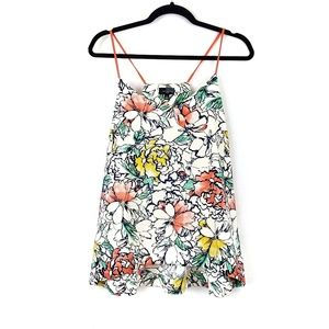 The Limited | Cream Floral Tank Top L